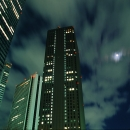 Moon Between Skyscrapers