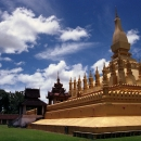 Shining Golden That Luang In Vientian