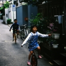 Kids Riding Unicycle