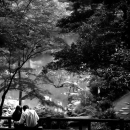 Couple On The Bridge In Arisugawa Park