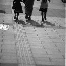 Parent And Children On The Sidewalk @ Tokyo