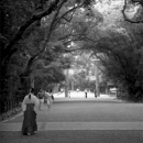 A Medium Walking In Atsuta Jingu @ Aichi
