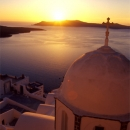 Church And Sunset In Santorini @ Greece