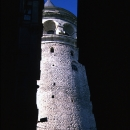 Galata Tower Between Buildings