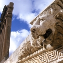 A Lion And Six Columns In Baalbek @ Lebanon