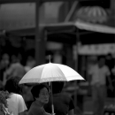 Older Woman With A White Umbrella @ Tokyo