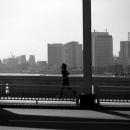 A Man Running On Kachhidoki Bridge @ Tokyo