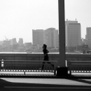 Man Running On Kachhidoki Bridge