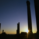 Pillars In Sunset In Al-Mina