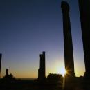 Pillars In Sunset In Al-Mina