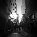 Dark Street Between Buildings @ Tokyo