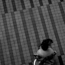 A Youg Woman Wearing Kimono Was Sitting @ Tokyo