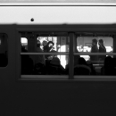 Window Of A Train Stopping The Station