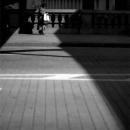 Woman Walking On Nihonbashi Bridge @ Tokyo