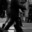 Man Standing In The Flow Of People @ Tokyo