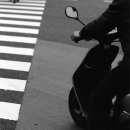 Rider At The Pedestrian Crossing @ Tokyo