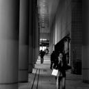 Woman Beside Pillars @ Tokyo