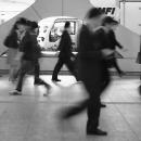 西新宿の通勤者
