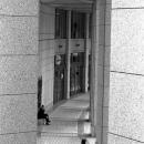 Woman Walking Between Pillars @ Tokyo