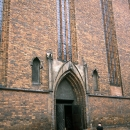 Man In Front Of The Cathedral In Toruń