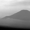 Silhouette Of Mt.Fuji