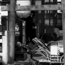 Man Dragging A Cart