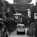 Woman, Car And Five-storied Pagoda @ Kyoto