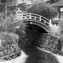 bridge and creek in Shimogamo Jinha - 下鴨神社の橋と小川