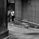 Women In The Alley In Gion