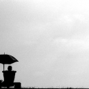 Silhouettes Of Umbrella And Bench @ Sri lanka