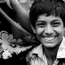 Boy Laughed Beisde A Cloth @ Bangladesh