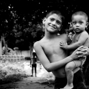 Boy Holding His Little Brother @ Bangladesh