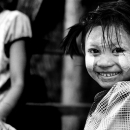 Smile Of A Girl With Pig Tails @ Myanmar