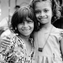 Two Smiling Girls @ India
