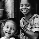 Laughing Girl And Grinning Mother @ India