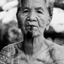 Older Woman With A Pipe In Her Mouth