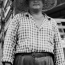 Man Wears Straw Hat