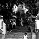 Long And Steep Staircase At Swayambhunath