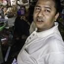 Man In A Kiosk