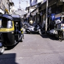 Auto Rickshaw In The Street
