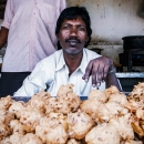 Man In A Fried Food Stand