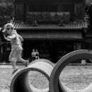 江戸東京たてもの園の子どもと土管