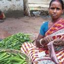 Woman Selling Okra