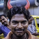 Man With Two Red Horns