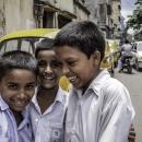 Three Bashful School Boys