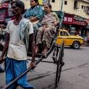 Rickshaw In The Traffic
