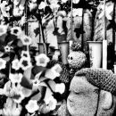 Jizo And Wheeling Windmills