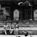 Three Women In Durbar Square
