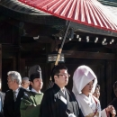 Bridal Couple In Meiji Jingu