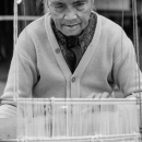 Older Woman And Warp Threads